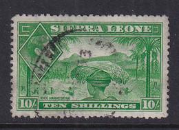 Sierra Leone: 1938/44   KGVI    SG199     10/-    Used - Sierra Leone (...-1960)