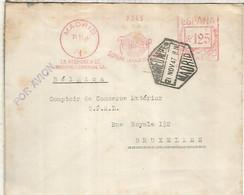 SPAIN FRANCOTYP METER NUMBER 1 USED 1947 ONE OF THE VARIETIES FRANQUEO MECANICO - 1931-50 Briefe U. Dokumente