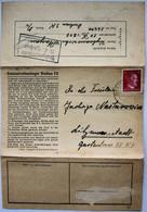 Voorbedrukt Complete Brief / Vorgedruckter Vollständiger Brief  /  Pre-printed Complete Letter  Dachau 1943 - Cartas