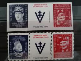 Charles De Gaulle Président Du G. P. R.  Et Le Général Montgomery CDT  Groupe Armé Britannique 1944-1945 - Unused Stamps