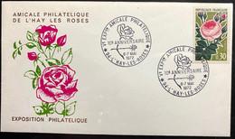 2 Enveloppes Exposition Amicale Philatélique De L'Hay-les-roses -Timbres N° 1356 Et 1357 - Cachet Du 6/7 Mai 1972 - 1960-1969