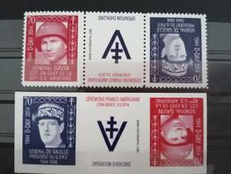 Vignette Militaire 70e Anniversaire D-Day De  Charles De Gaulle Et Le Général Gavin Usa** - Unused Stamps
