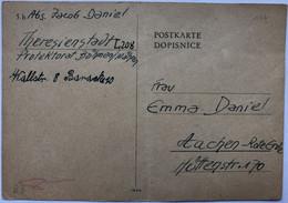 Portvrij Verzonden Briefkaart / Portofreie Postkarte / Postage Free Postcard   Theresienstadt 1943 - Cartas