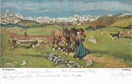G. Segantini - Frühling - Schilderijen
