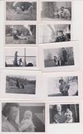 Lot De  10 Photos Originales De Femme élégante Et Enfant - Personas Anónimos