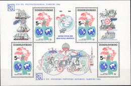 CSSR 1984,  2772 Block 59, MNH **, 110 Jahre Weltpostverein (UPU). - Blocks & Sheetlets