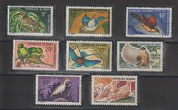Niger 1967-68 Oiseaux 208-215 8 Val ** MNH - Niger (1960-...)