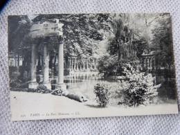 Eb1 PARIS 75 - CPA LE PARC MONCEAU 250 LL ECRITE 1907 - DOS VERT - Parken, Tuinen