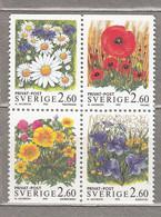 SWEDEN SVERIGE SUEDE 1993 Flowers MNH (**) Mi 1781 - 1784  #18349 - Nuevos
