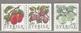 SWEDEN SVERIGE SUEDE 1994 Fruits MNH (**) Mi 1808 - 1810  #18352 - Nuevos