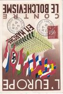 FRANCE 1942 CARTE ANTI BOLCHEVISME DE PARIS - Guerra Del 1939-45