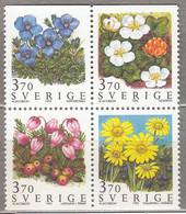 SWEDEN SVERIGE SUEDE 1995 Flowers MNH (**) Mi 1883 - 1886 #18388 - Nuevos