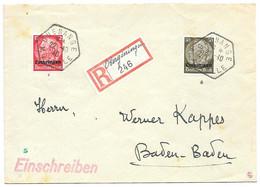 Moselle - Guénange - L Rec. Obl. GUENANGE / MOSELLE - 22.10.1940 - Elzas-Lotharingen