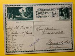13388 - Biel Bienne Winterthur 17.09.1930 - Enteros Postales