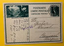 13389 - Braunwald Glarus Biel 22.07.1931 - Enteros Postales