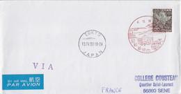 Japon, Lettre Par Avion Obl. 34° Exp. Polaire Base 4.12.16 + Cachet Tokyo 13 IV 93, TP 1059 (Kalavinka) - Cartas