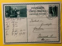 13391 - Montreux Château De Chillon Schinznach-Dorf 10.12.1930 - Enteros Postales