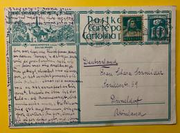 13393 - Romainmôtier Eglise Musée Bern 20.07.1928 Pour Düsseldorf - Enteros Postales