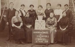 CPA - SELECTION - COMINES - CARTE PHOTO - Souvenir Des évacués De Comines (fr) A RAMSEL Le 24 Mars 1918 - Other Municipalities