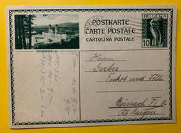 13395 - Einsiedeln Biel  01.10.1930 - Enteros Postales