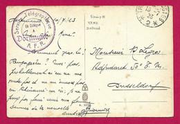 """Écrit Sur Carte Postale Daté De 1923 - Armée Française Du Rhin - Oblitération """"Trésor Et Postes - Secteur Postal 2"""" - Zona Francesa"""