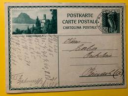 13399 - Castagnola Romanshorn 24.06.1931 - Enteros Postales