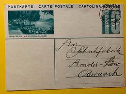 13400 - Montreux Riviera Amriswil 23.11.1931 - Enteros Postales