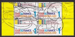 Nederland - Tour De France - Gebruikt/gebraucht/used - NVPH 2722-2725 Blok Van Vier Zegels Incl. Tab - Usados
