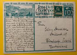 13402 - Sierre Bern 10.08.1928 Pour Düsseldorf - Enteros Postales