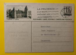 13403 - Yverdon Le Château  Yverdon 20.04.1954 - Stamped Stationery