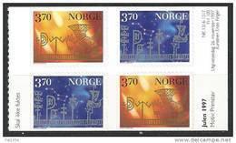 Norvège 1997 N°1224/1225 Bloc De 4 Avec Paires Inversées Neuf** Noel - Unused Stamps