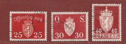 Timbre Norvège N° Service 53 - 63 - 82 - Officials