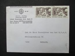 Lege Omslag  Nationaal  Verbond  Der  Militairen  Met Postzegels OUD --KRIJGSGEVANGEN  AFdeling   AALST - Documentos