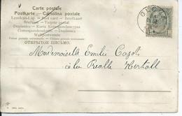 Fantasiekaart Met OCB 53 - Afstempeling GLONS - COBA 4 - 1893-1907 Wappen