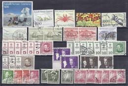 Groenlandia Lotto Timbrato / Grönland Los Gestempelt - Lots & Serien