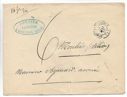 DOMPIERRE SUR BEBRE Allier CAD Type 15 + Taxe G Manuscrite + Poids 14 Grs 1857 ..G - 1849-1876: Classic Period