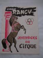 CIRQUE RANCY : OLYMPIADES DU CIRQUE En 1967 Avec ZAPPY MAX - Arte