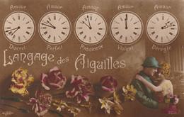 CPA: THÈME LANGAGE DES AIGUILLES De Montres COUPLE SOLDAT..ÉCRITE - Other