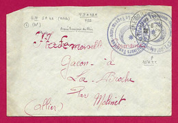 """Enveloppe Datée De 1922 - Armée Française Du Rhin - Oblitération """"Trésor Et Postes - Secteur Postal 4A"""" - Französische Zone"""
