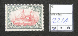 Nr. 22IA Karolinen Postfrisch - Colonia: Isole Caroline