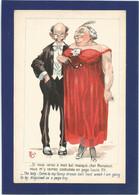 """MICH / Couple De Personnes âgées / """"Si Vous Venez à Mon Bal Masqué,vous M'y Verrez Costumée En Page De Louis XV"""". - Mich"""