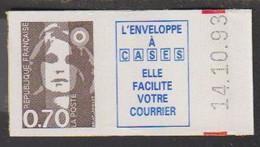 1993.N°5b  MARIANNE DU BICENTENAIRE.N°2824a - Autoadesivi