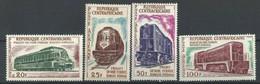 "Centrafrique Aerien YT 12 à 15 (PA) "" Locomotives "" 1963 Neuf** - República Centroafricana"