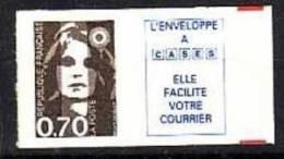 1994.N°6b**  MARIANNE DU BICENTENAIRE.N°2873b;vignette Caractère Maigre - Luchtpost