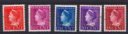 Nederland Dienstzegels 1940 20-24 NVPH Gebruikt Plakker Used Sticker Oblitere Avec Charniere - Dienstpost