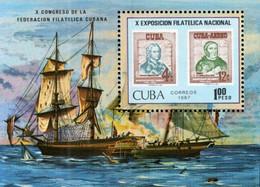 Gibraltar - 1987 - 10th National Stamp Exhibition - Mint Souvenir Sheet - Neufs