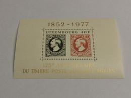 Luxembourg, 125e Anniversaire Timbres Poste 1977. Non Oblitéré - Blocchi & Foglietti