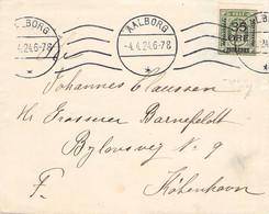 DENMARK - LETTER 1924 AALBORG > KOBENHAVN Mi #62 / G163 - Brieven En Documenten