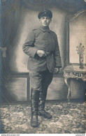 Carte-Photo  : Portrait Militaire - Allemand En Studio (BP) (4) - War, Military