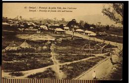 CPA SENEGAL N°18 PROTOTYPE DE PETITE VILLE DANS L'INTERIEUR ANIMEE DELMAS DAKAR - Senegal